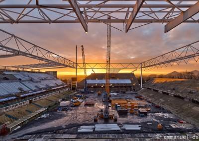 coucher de soleil au stade bollaert